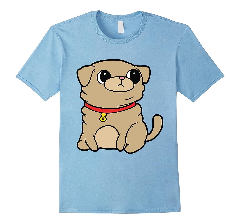 Pug T-Shirt Cute Cartoon Puppy-T-Shirt