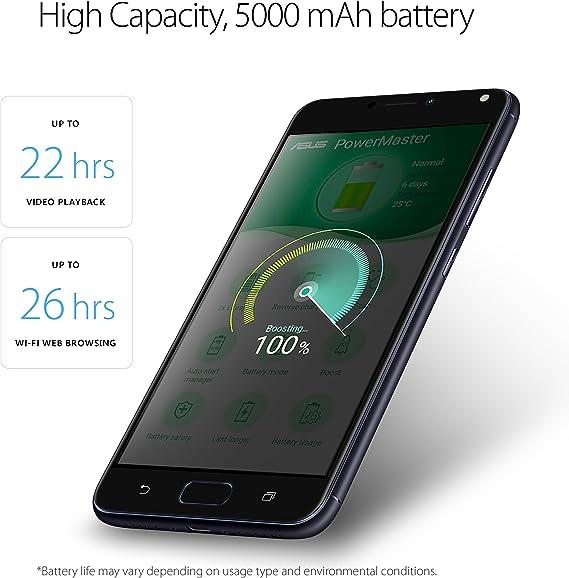 ASUS ZenFone 4 Max 5.5-inch HD 3GB RAM, 32GB storage LTE Unlocked Dual SIM Cell Phone, US