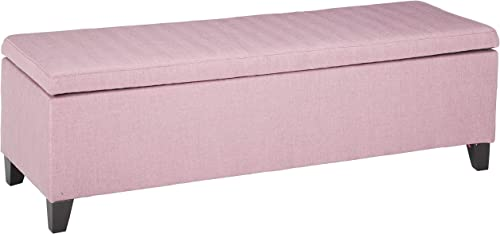 Colby Fabric Storage Ottoman Bench Light Lavender