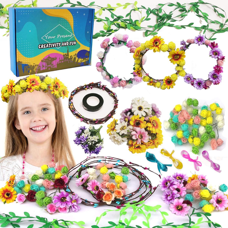Flower Girl Proposal Gift Coral Wedding Flower Girl Tiara Flower Girl Hair Piece Girl Birthday Floral Crown Rose Flower Hair Crown