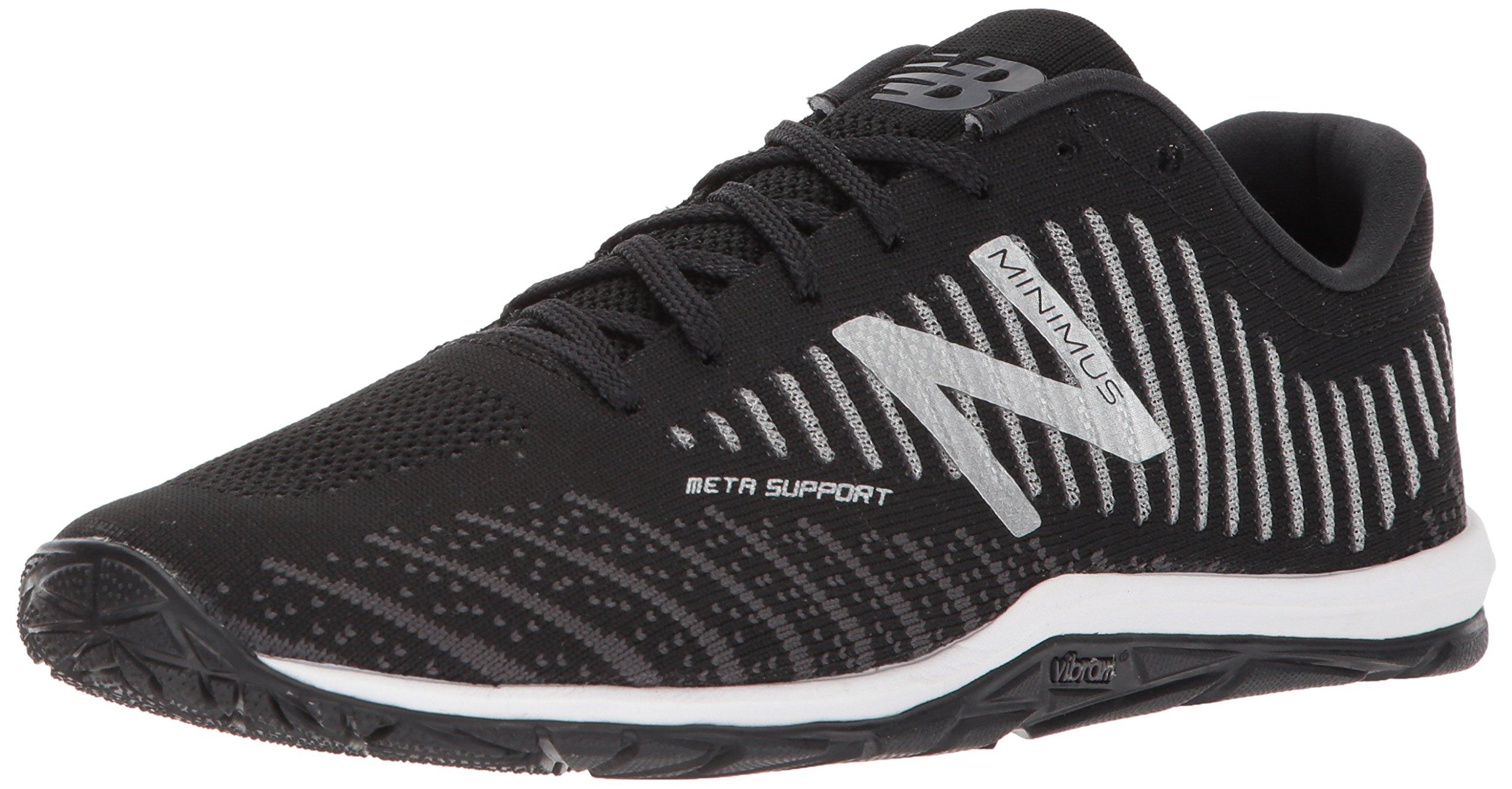 New Balance Men's 20v7 Minimus Training Shoe, Black/White, 10.5 D US by New Balance