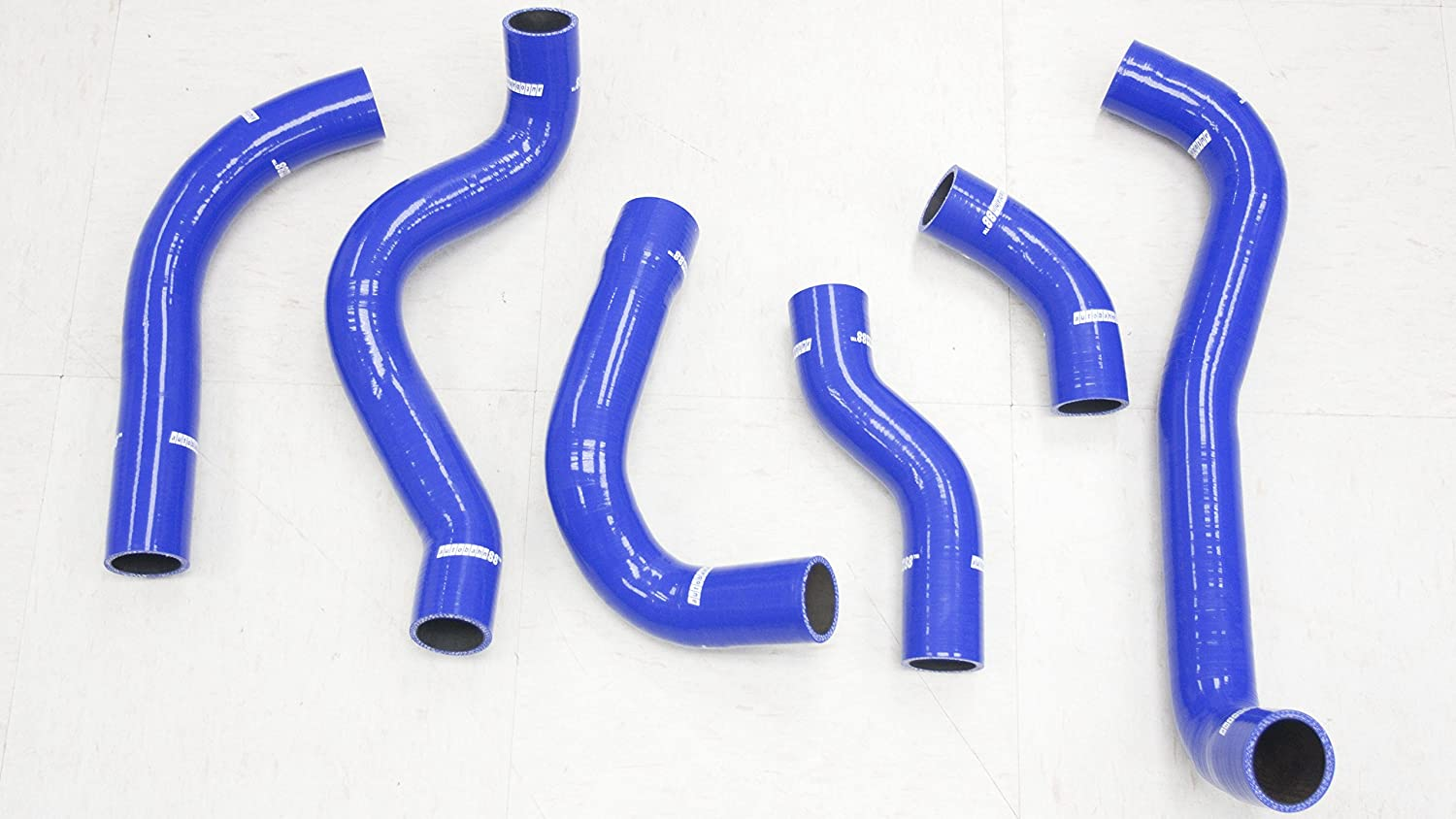 Blue -with Clamp Set Autobahn88 Radiator Coolant Silicone Hose Kit for 1992-1996 Mitsubishi Lancer Evolution EVO 1 2 3 CD9A CE9A 4G63