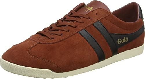 Gola Bullet Mens Rust Black Leather /& Suede Casual Trainers