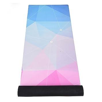 The Inner Living Fusion Yoga Mat - ¡La mejor estera antideslizante de lujo ecológica diseñada para agarrar más sudada! Reversible y lavable (Polygonal Dream)