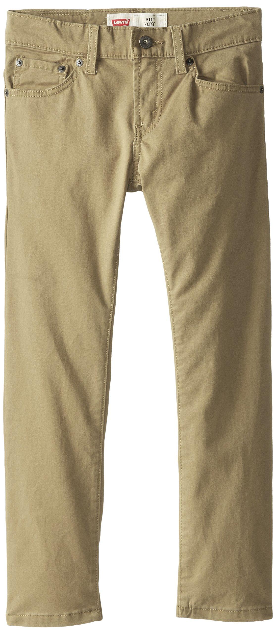 Levi's Boys' Big 511 Slim Fit Soft Brushed Pants, Harvest Gold 16
