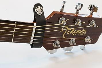 Porte-m/édiators en cuir pour guitare /électrique acoustique Noir
