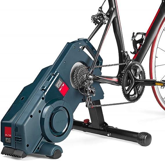 Elite Turno - Rodillo de entrenamiento para bicicleta inteligente, transmisión directa, con resistencia de tecnología fluida y sensor Misuro B+ integrado, Negro: Amazon.es: Deportes y aire libre