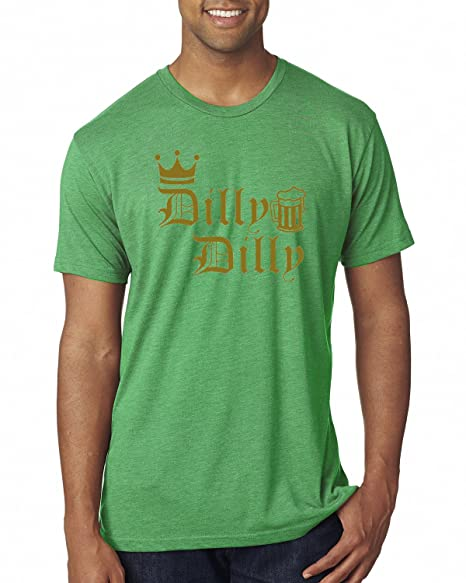 3a679f885 Dilly Dilly Logo Gold Beer | Mens Pop Culture Premium Tri Blend Tee Graphic  T-