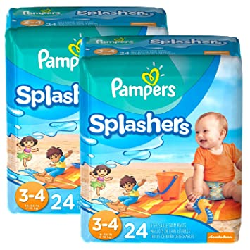Pampers Splashers Swim Pants (Size 3-4) - 2 Pack