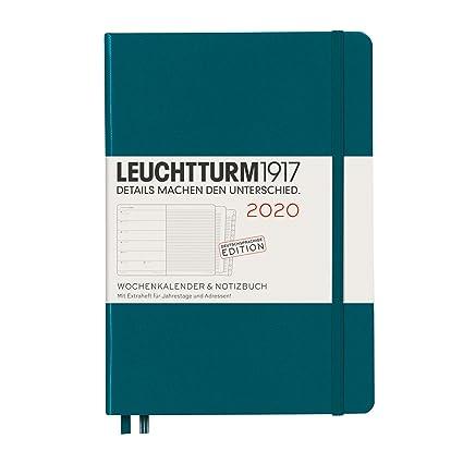 Agenda y cuaderno 2020, tapa dura, A5, 12 meses, color verde ...