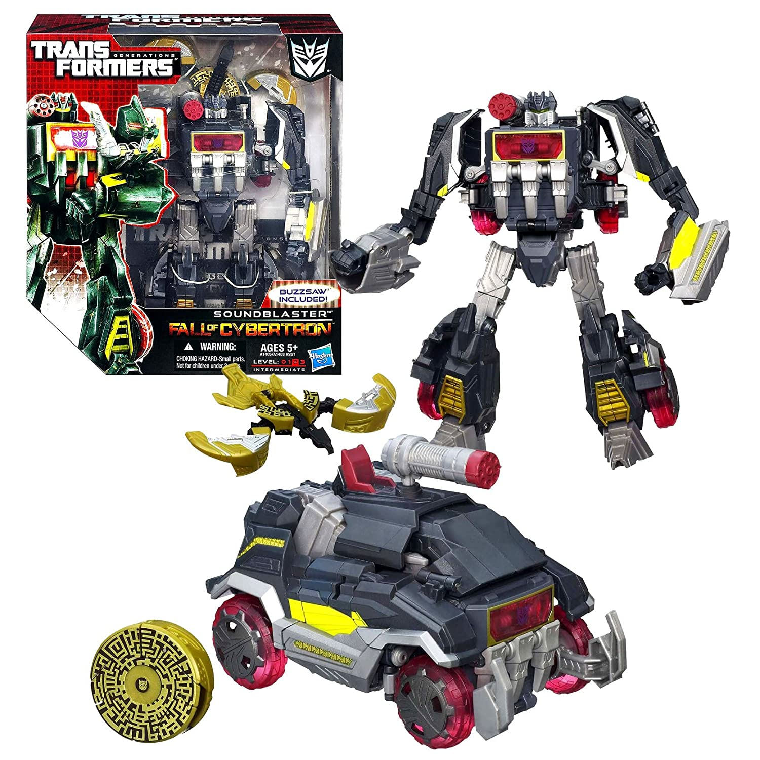 Hasbro Year 2012 Transformers Generations Fall of Cybertron Series 01 Voyager Class 7-1/2 Inch Tall Robot Action Figure B00C0KPWD8