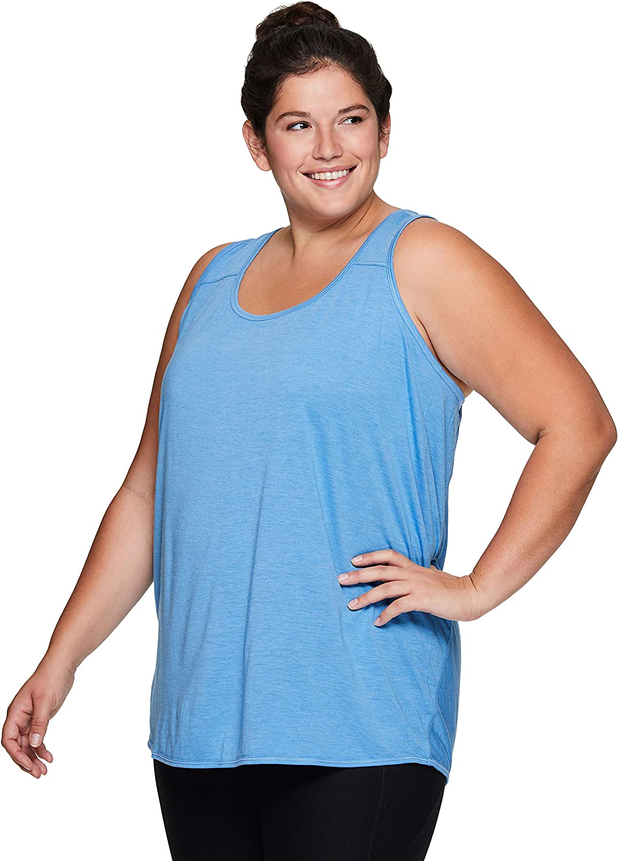 RBX Active Womens Plus Size Split-Neck Seasonal Lightweight Tank Top