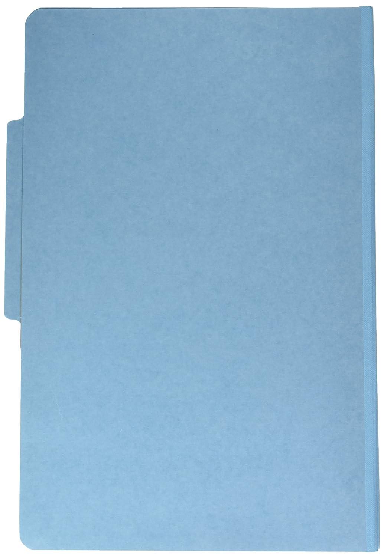 Pressboard 25-Pt. Classification Folders, Legal, Four-Section, Sky Blau, 10/Box