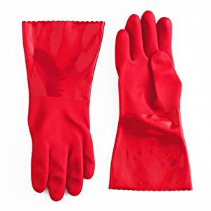 Red Medium Cleaning Gloves
