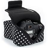 USA Gear DSLR - Funda para cámara Digital con protección de Neopreno, Correa para cinturón y Accesorios de…