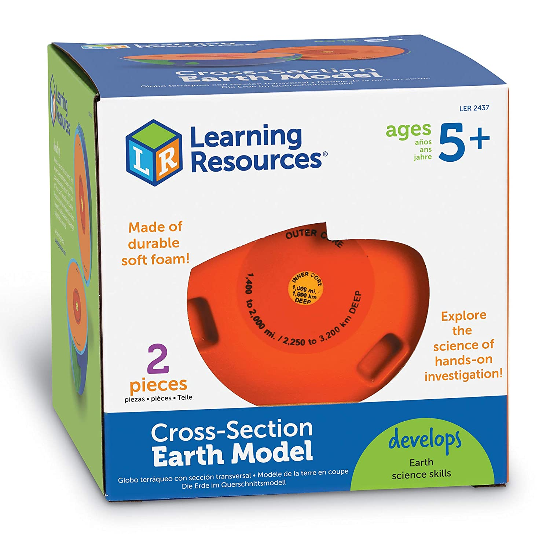 Learning Resources Soft Foam Cross-Section Earth Model