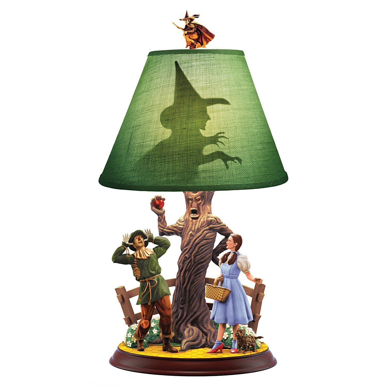 THE WIZARD OF OZ We're Not In Kansas Anymore DOROTHY and SCARECROW Lamp by The Bradford Exchange