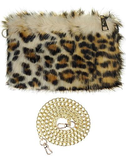 f16ba35e99c C.C Women s Evening Faux Fur Fuzzy Crossbody Shoulder Bag Clutch Purse