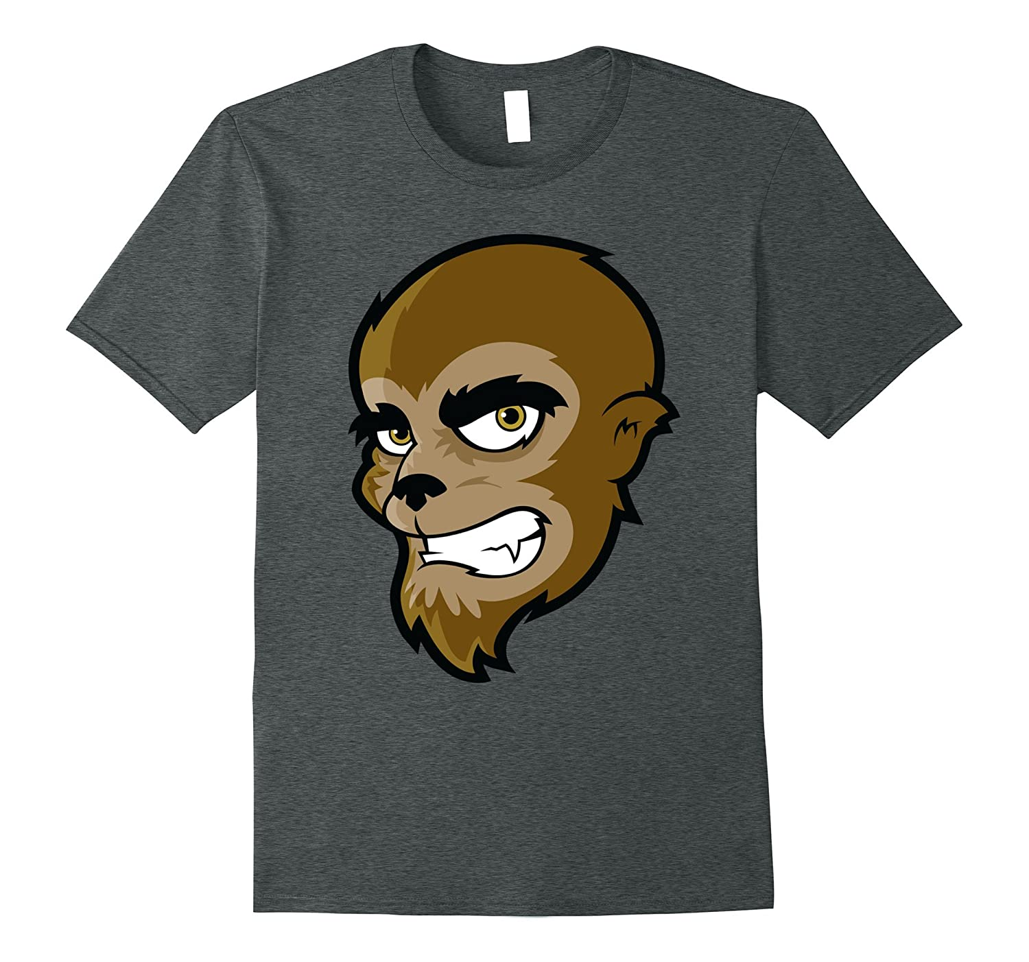 Cartoon Wolfman Trick or Treat : Halloween shirt-mt