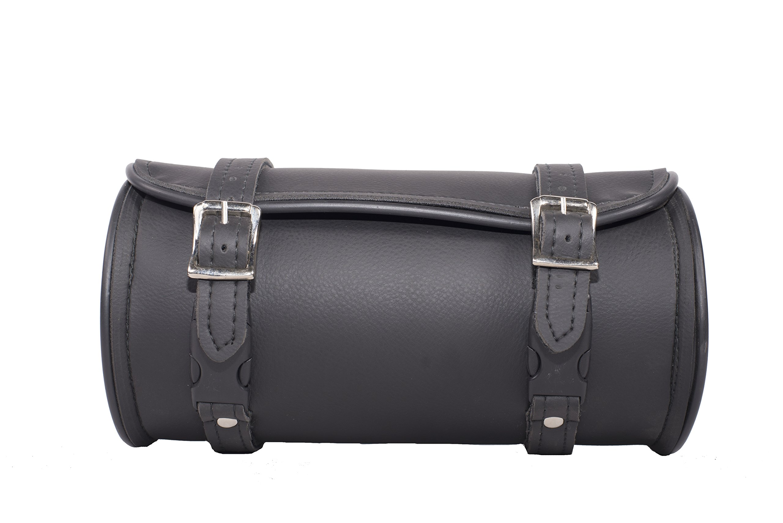 12 Inch Plain Motorcycle Tool Bag with Two Roller Buckle Straps