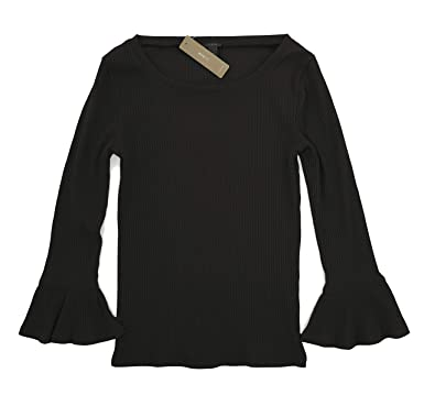 50f402c91c6 J Crew - Women s - Ribbed Bell Sleeve Tee at Amazon Women s Clothing store