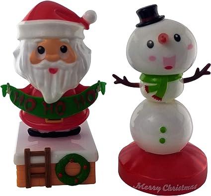 1 Santa Clause Christmas Red BOBBLE TOY SOLAR POWER CAR DASH OFFICE DESK GIFT