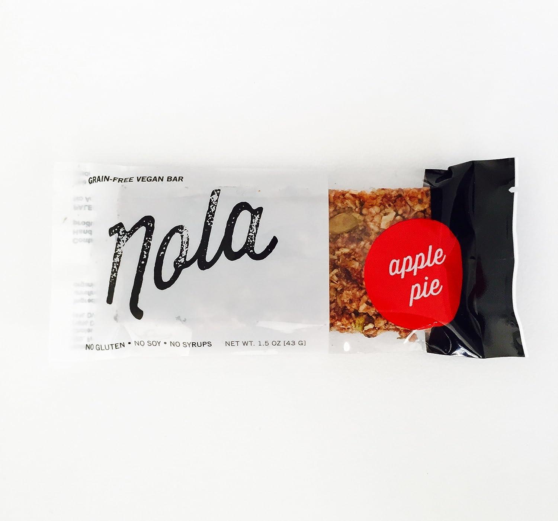 The Vegan Apple Nola Bar: All-natural, Gluten-free, Paleo-friendly (Box of 12)