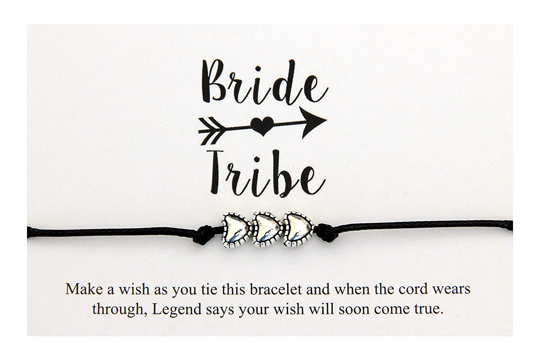Bride Tribe Charm Wish Bracelets Wedding Hen Party Bridesmaid Gifts Friendship