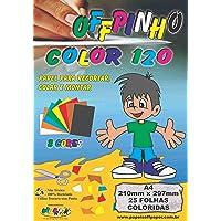 Papel Criativo A4, Off Paper, Offpinho Color 120, 10075, 8 Cores, 25 Folhas