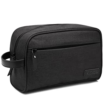 f47b0bddd7ef Amazon.com   Dopp Kit Mens Toiletry Bag Travel Bathroom Bag Shaving Shower  Cosmetic Organizer Black   Beauty