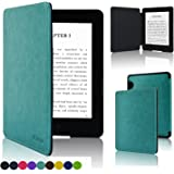 Kindle Voyage Case Cover - ACdream Amazon Kindle Voyage (7th Generation) Case - The Thinnest and Lightest Premium PU Leather Cover Case for Amazon Kindle Voyage 2014 Version with Auto Wake Sleep Feature - Sky Blue