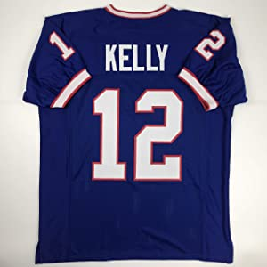 Unsigned Jim Kelly Buffalo Blue Custom Stitched Football Jersey Size Men's XL New No Brands/Logos