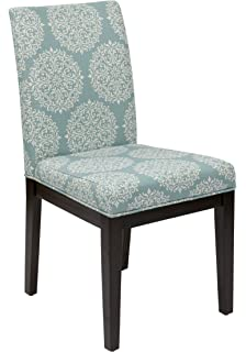 Superbe AVE SIX Dakota Upholstered Parsons Chair With Espresso Finish Wood Legs,  Gabrielle Sky