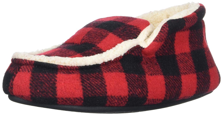 Dearfoams Kids' Df Boy's Plaid Boot Slipper 26002