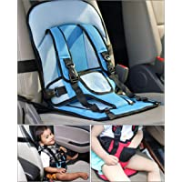 Kurtzy Baby Car Safety Cushion Seat with Adjustable Lock Buckles Protective Belt for Infant Toddler Kids, Multi