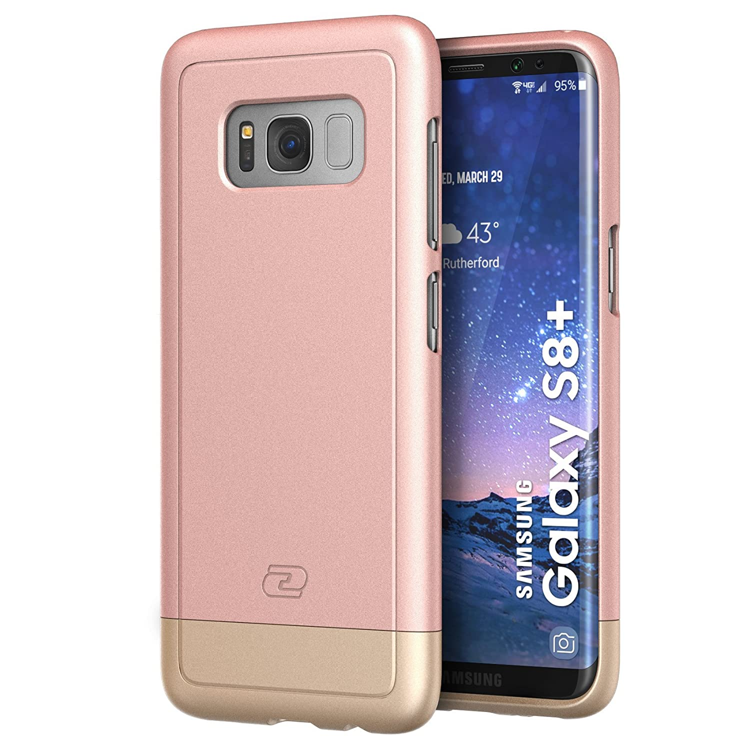low priced 0cf00 ce263 Galaxy S8 Plus Case Rose Gold - Encased (SlimShield Armor) Protective Slim  Thin Grip Phone Cases for Samsung Galaxy S8+ (Rose Gold)