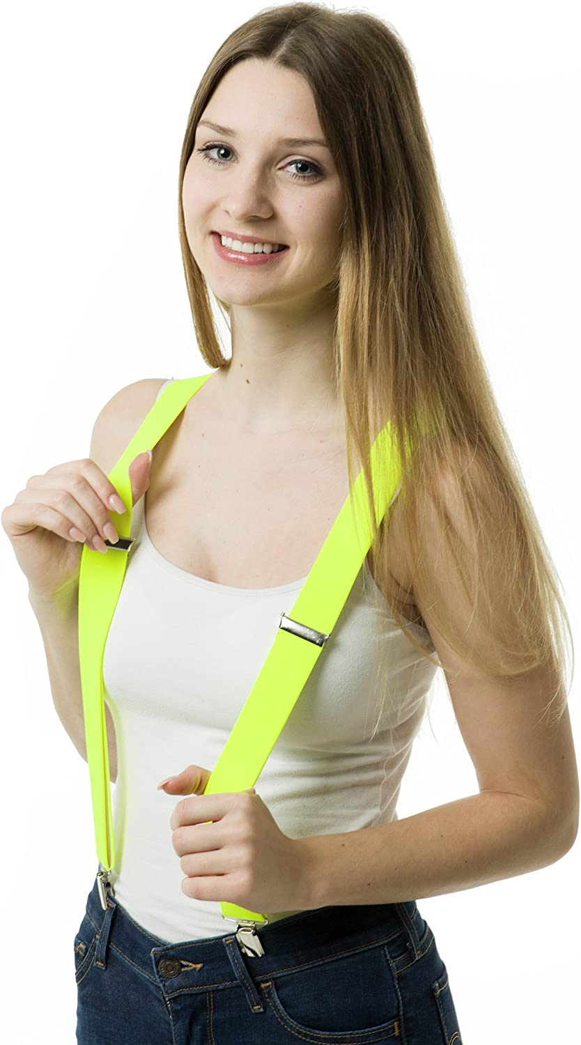 Assorted Colours Festivals /& Fancy Dress Shenky Unisex Y-Back Brace with 3 Clips