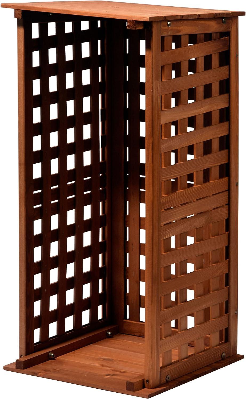 dobar 29097 FSC Chimenea Madera Estante de Madera para Interior y Exterior en el jardín, marrón, 39 x 39 x 85 cm: Amazon.es: Jardín