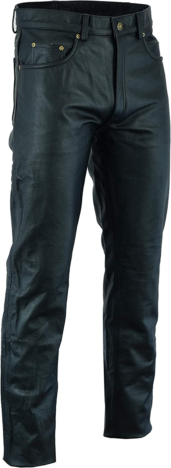 36 MOTORCYCLE LEATHER PANTS FOR MEN BIKERS RIDING PROTECTIVE CHAPS LP-105