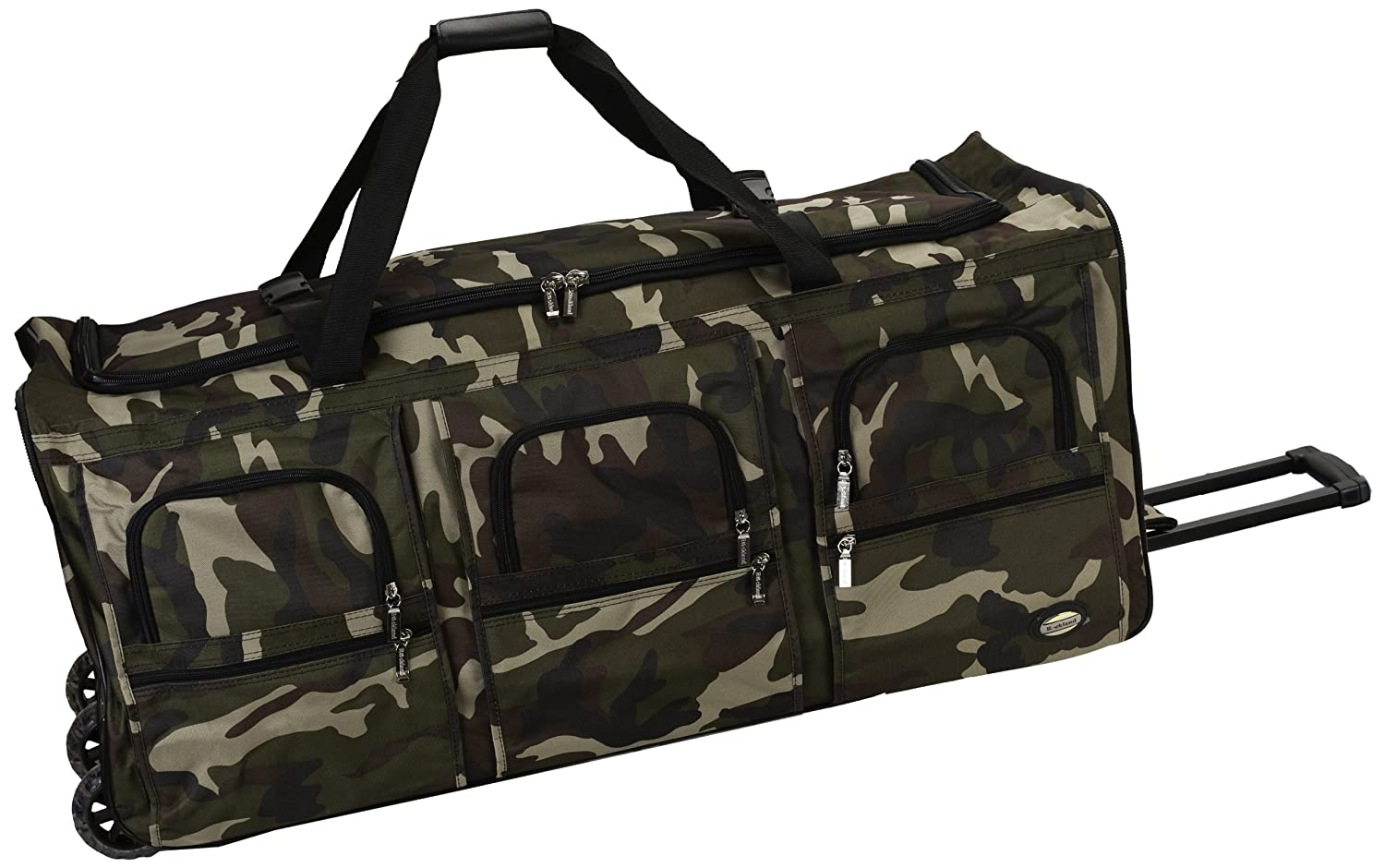 Rockland Luggage 40 Inch Rolling Duffle Bag, Camouflage, X Large