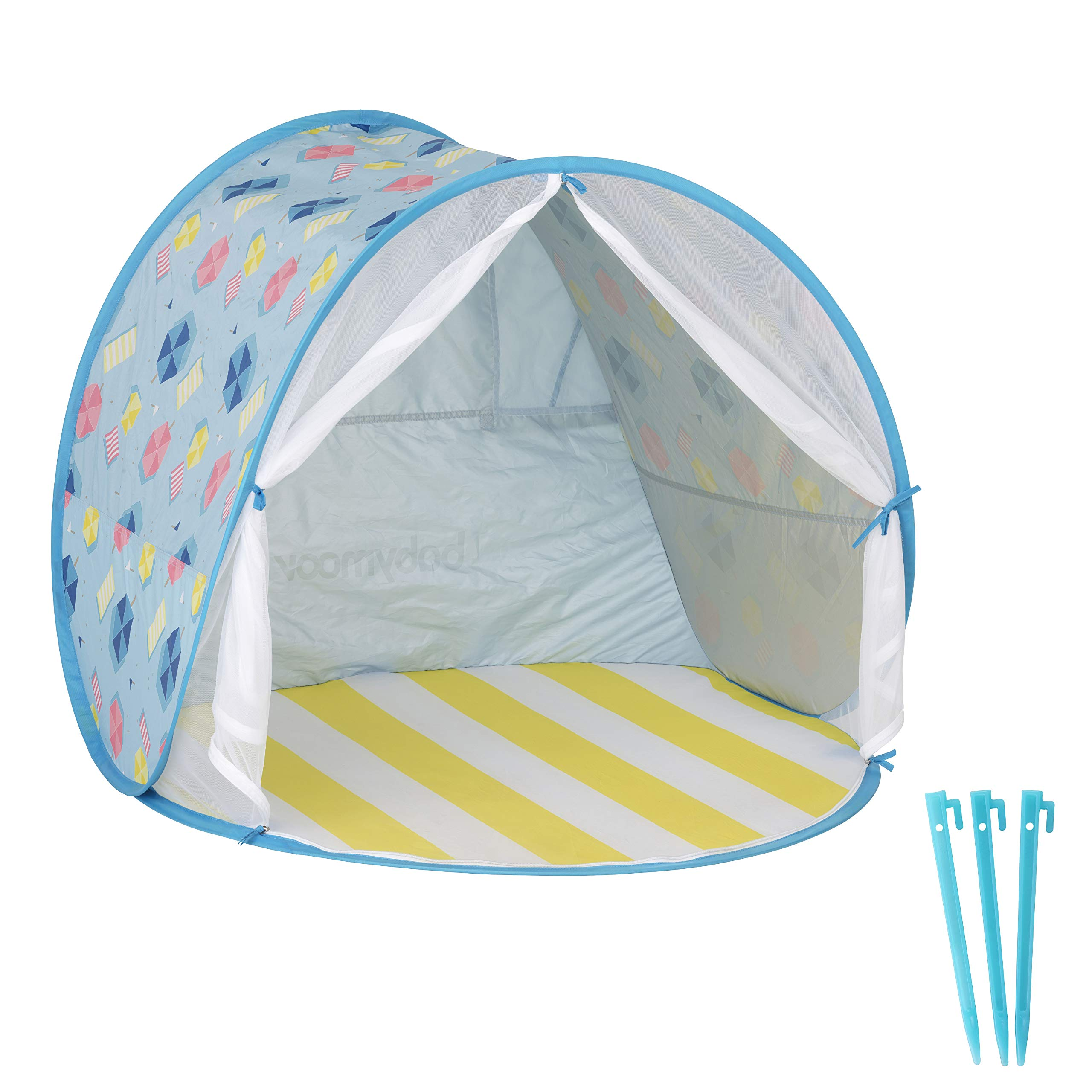 Babymoov Anti-UV Beach Tent UPF 50+ Sun Protection with Pop Up System for Easy Use and Travel