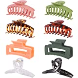 Tirdkid 8PCS Hair Claw Clips Nonslip Durable Large Claw Clips for Thick Hair ,Strong Hold Hair clips Simple Fashion Hair Acce