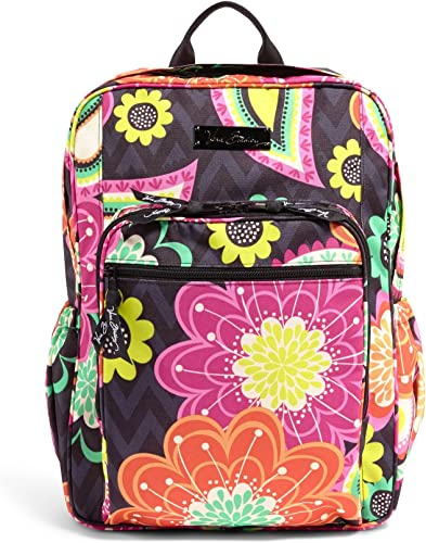 Vera Bradley Lighten Up Campus Backpack Ziggy Zinnia