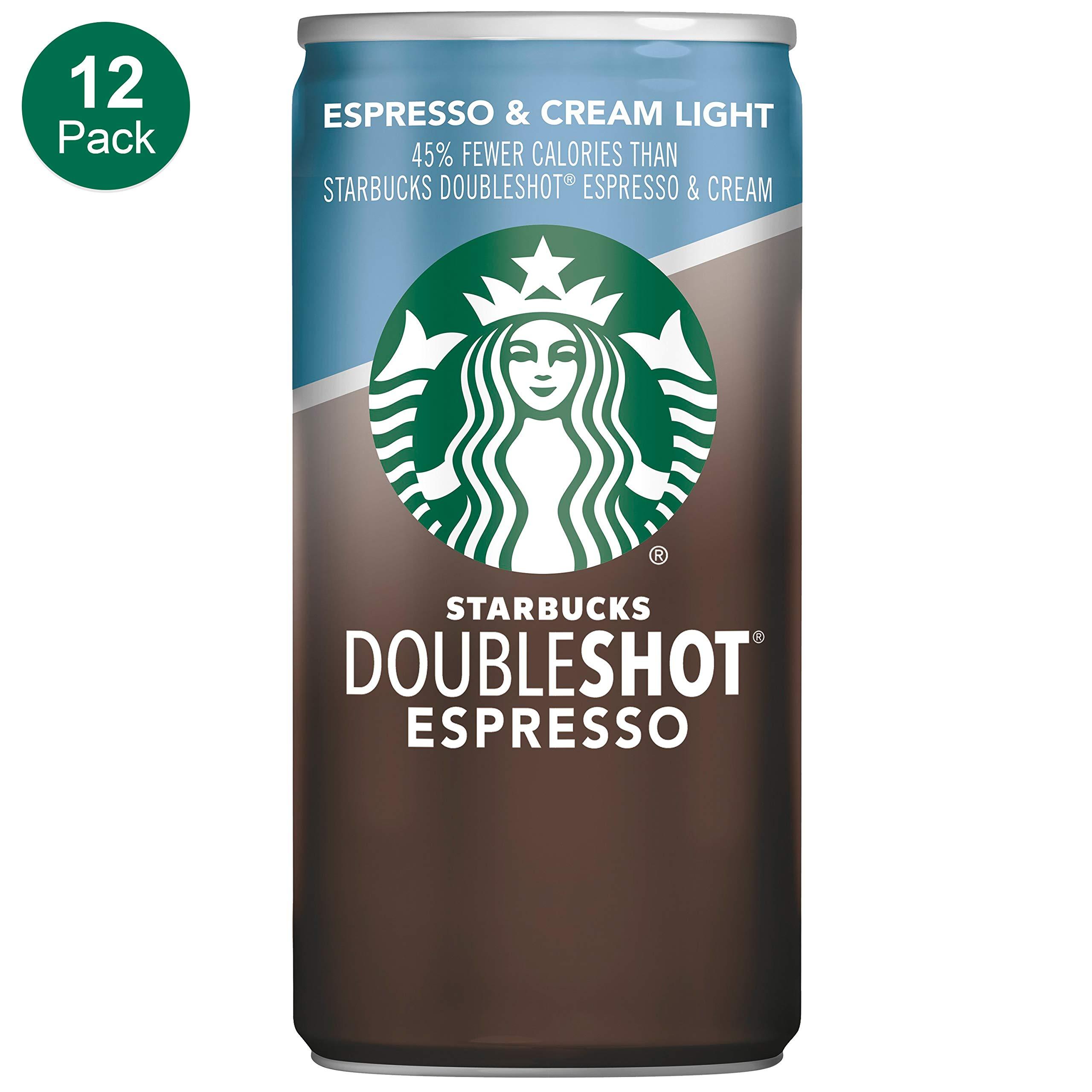 Starbucks Doubleshot, Espresso + Cream Light, 6.5 Ounce, 12 Pack by Starbucks