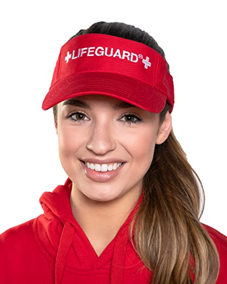 a528ff3a93ce Amazon.com  LIFEGUARD Official Adjustable Visor (Red)  Clothing