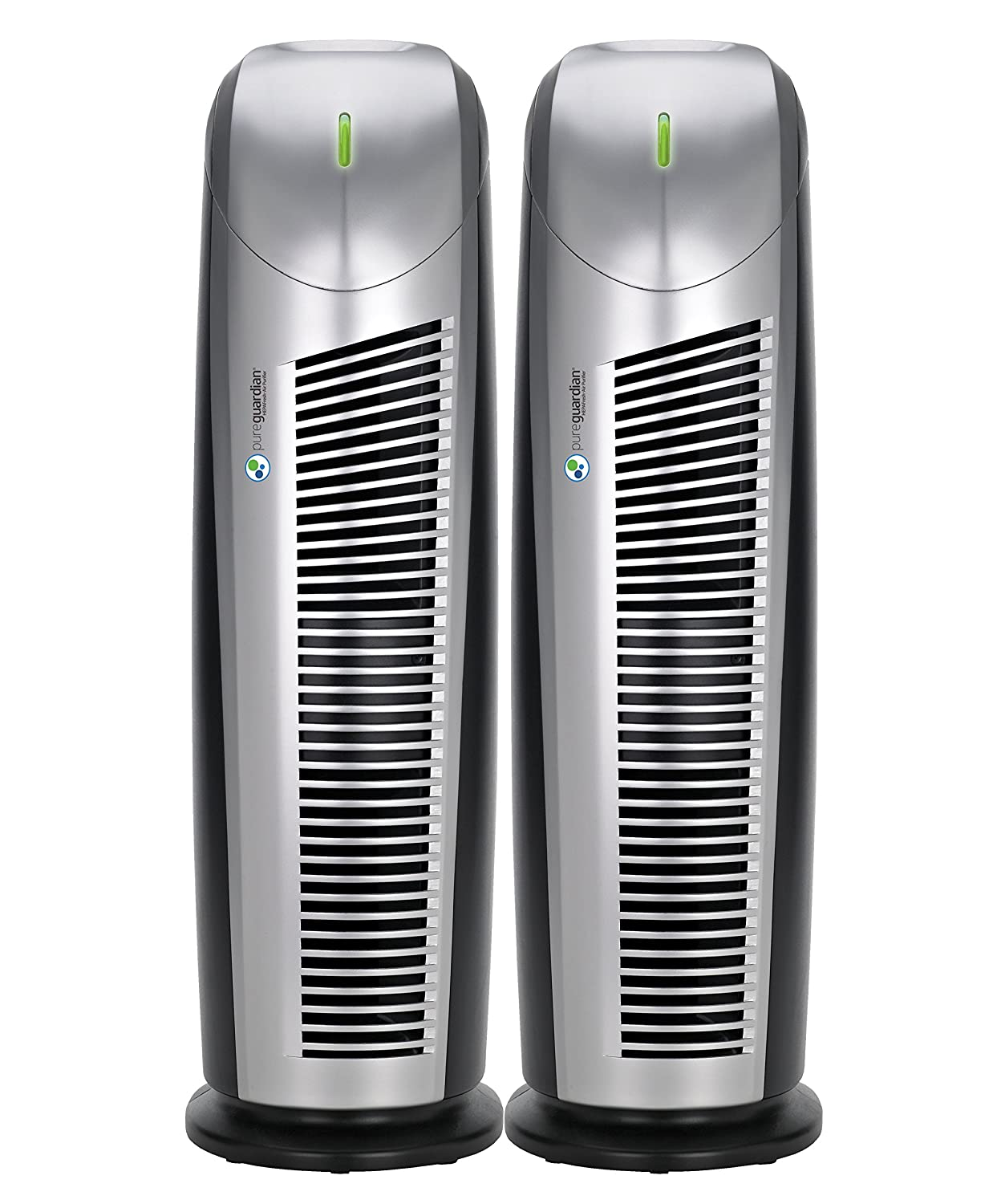 PureGuardian AP22002PK Air Purifiers with HEPAFresh Filter, Captures Allergens, Mold Spores, Dust, Pet Dander, Reduces Odors, Pure Guardian Air Purifier 2-Pack