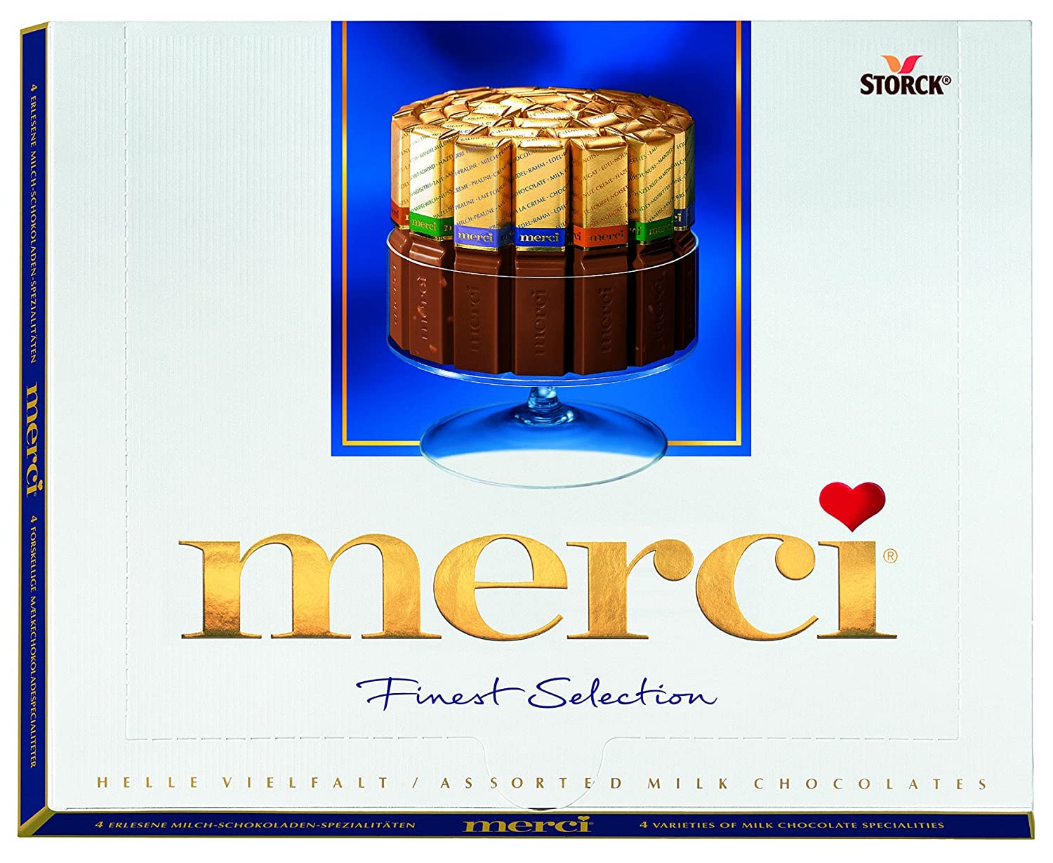 Amazon.com : Storck Merci Milk Selection 250g : Candy And ...