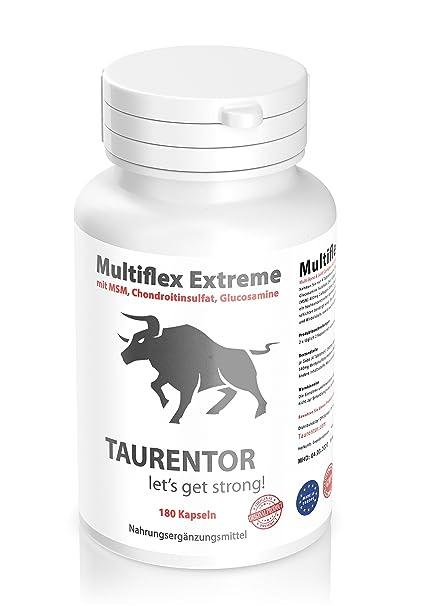 Tauren Tor Multiflex Extreme 180 Cápsulas con MSM, Chon droitin Sulfato, Parisol,
