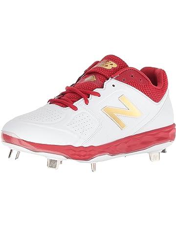 New Balance Womens Velo V1 Metal Softball Shoe, red/White, ...