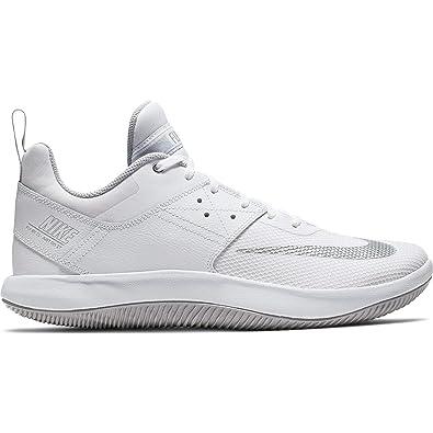 87606dcc58c9a Amazon.com | Nike Men's Fly by Low II Basketball Shoe White/Metallic  Silver/Wolf Grey Size 11.5 M US | Basketball